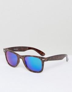 Солнцезащитные очки в прямоугольной оправе AJ Morgan Traction - Коричневый
