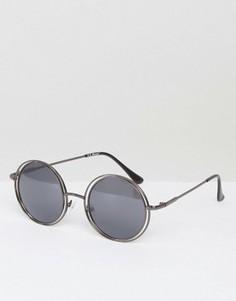 Круглые солнцезащитные очки AJ Morgan Saturn - Серебряный