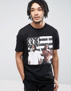 Длинная футболка с принтом Outkast ASOS - Черный