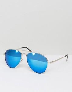 Солнцезащитные очки-авиаторы с серебристыми стеклами Aj Morgan Skyline - Серебряный