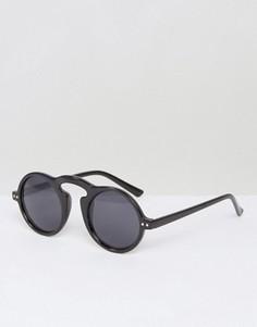 Черные круглые солнцезащитные очки AJ Morgan Snider - Черный