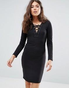 Платье со шнуровкой Only Elcos Sandy - Черный