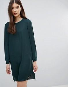 Цельнокройное платье с длинными рукавами Pieces Dolly - Зеленый