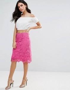 Кружевная юбка-карандаш Liquorish - Розовый
