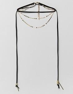 Многоярусное ожерелье Ashiana - Черный