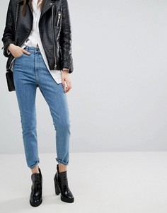 Укороченные джинсы скинни с завышенной талией Dr Denim - Синий