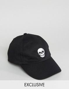 Бейсболка с вышивкой черепа Reclaimed Vintage Inspired - Черный