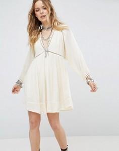 Платье мини Free People - Белый