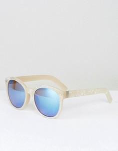 Белые солнцезащитные очки с затемненными стеклами Jeepers Peepers - Белый