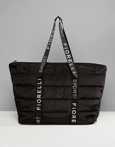 Черная стеганая сумка Fiorelli Sport - Черный
