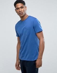 Меланжевая футболка с карманом Threadbare - Темно-синий