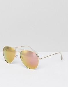 Солнцезащитные очки-авиаторы Jeepers Peepers - Золотой