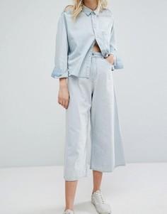 Укороченные джинсы с широкими штанинами Cheap Monday - Синий