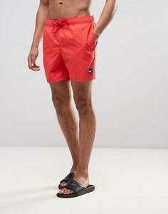 Однотонные шорты для плавания Hollister - Красный