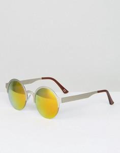 Круглые солнцезащитные очки с золотистыми стеклами Jeepers Peepers - Золотой