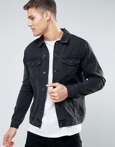 Черная джинсовая куртка New Look - Черный