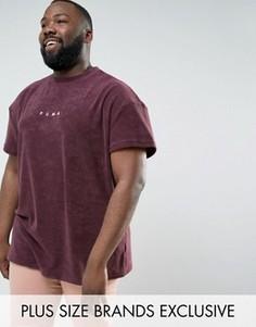 Фиолетовая махровая футболка Puma PLUS 57533304 эксклюзивно для ASOS - Фиолетовый