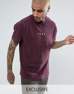 Фиолетовая махровая футболка Puma 57533304 эксклюзивно для ASOS - Фиолетовый