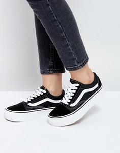 Черные кроссовки на платформе Vans Old Skool - Черный
