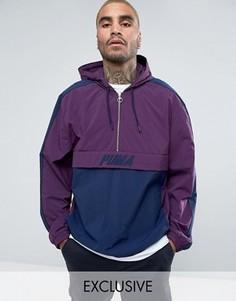 Фиолетовая куртка на молнии в винтажном стиле Puma эксклюзивно для ASOS - Фиолетовый