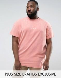 Розовая махровая футболка Puma PLUS 57533306 эксклюзивно для ASOS - Розовый