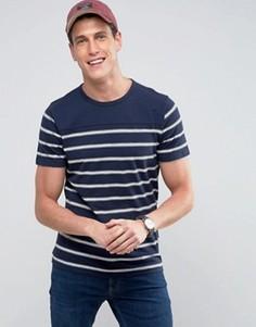 Темно-синяя футболка в полоску Abercrombie & Fitch - Темно-синий