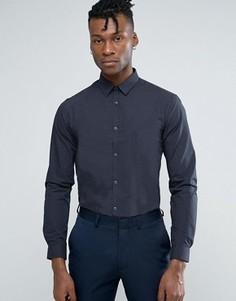 Рубашка классического кроя в мелкий горошек New Look - Темно-синий