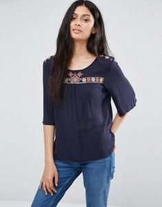 Рубашка с декоративной отделкой Only Boho - Синий