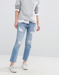 Прямые укороченные джинсы с рваной отделкой Tommy Hilfiger Lana - Синий