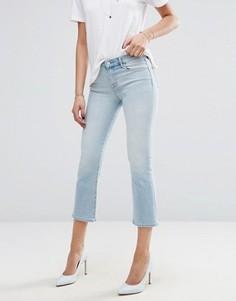 Укороченные джинсы с легким клешем J Brand Selena - Синий
