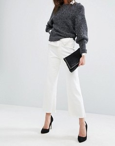 Укороченные джинсы с широкими штанинами и необработанным краем DL1961 Hepburn - Белый