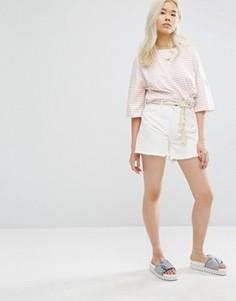 Обрезанные джинсовые шорты M.i.h Jeans - Белый