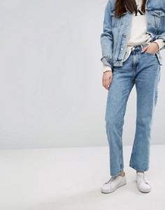 Прямые укороченные джинсы в винтажном стиле с завышенной талией Calvin Klein Jeans - Синий
