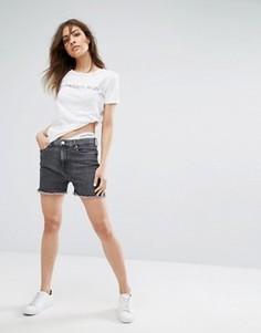 Обрезанные джинсовые шорты в винтажном стиле Calvin Klein Jeans True Icon - Черный
