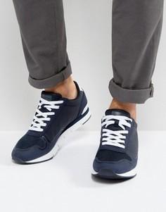 Кроссовки со светоотражающим логотипом Calvin Klein Jude - Темно-синий