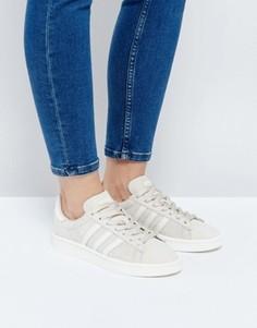 Бежевые замшевые кроссовки adidas Originals Campus - Коричневый