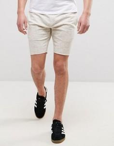 Трикотажные шорты с поясом на шнурке и необработанными краями Only & Sons - Серый