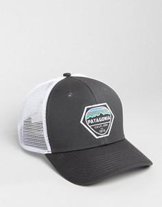 Серая бейсболка Patagonia Hex - Серый