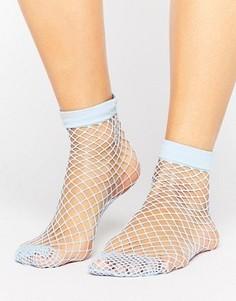 Светло-голубые носки в крупную сетку ASOS - Синий