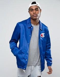 Спортивная куртка с большим логотипом Champion - Синий