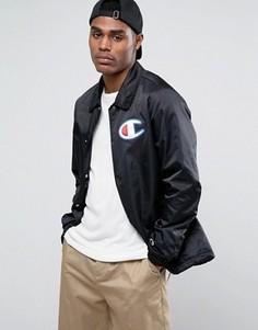 Спортивная куртка с большим логотипом Champion - Черный