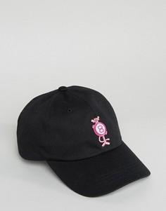 Кепка с цифрой 8 и мячом HUF x Pink Panther - Черный