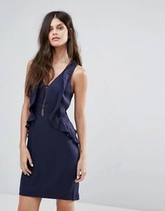 Платье с оборками Y.A.S - Темно-синий