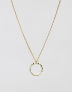 Длинное ожерелье с подвеской Pieces Kristina - Золотой