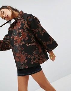 Жаккардовая куртка-кимоно ASOS - Мульти