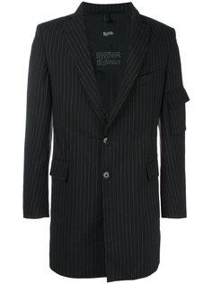 полосатый пиджак с отделкой молнией Blood Brother