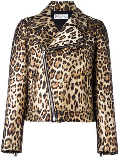 байкерская куртка с леопардовым узором Red Valentino