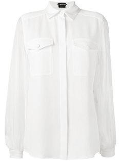 рубашка с карманом на груди  Tom Ford