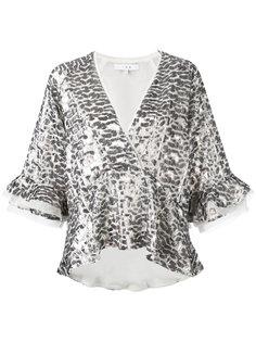 блузка металлик с запахом спереди  Iro