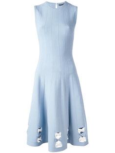 платье в рубчик с бантами Alexander McQueen